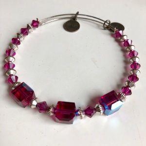 Alex and Ani Swarovski Crystal Bracelet (magenta)